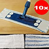 10x Power Magic-Clean Boden-Wischbezüge Wischmopp Wischbezug für alle handelsüblichen Bodenwischer geeignet 2 verschiedene Oberflächen