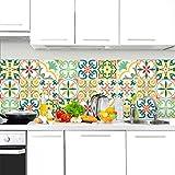 24 (Piezas) Adhesivo para Azulejos 20x20 cm - PS00111 - Pamplona - Adhesivo Decorativo para Azulejos para baño y Cocina - Stickers Azulejos - Collage de Azulejos