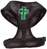 Mirage Pet Products Hundegeschirr, Motiv Keltisches Kreuz aus weichem Netzgewebe, Größe XL, Schwarz