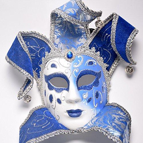 K&C Venedig Masquerade Kostüm Maske Halloween Weihnachten Tanz Party Exquisite Maske Blau (Mardi Gra Kostüme Plus Größe)