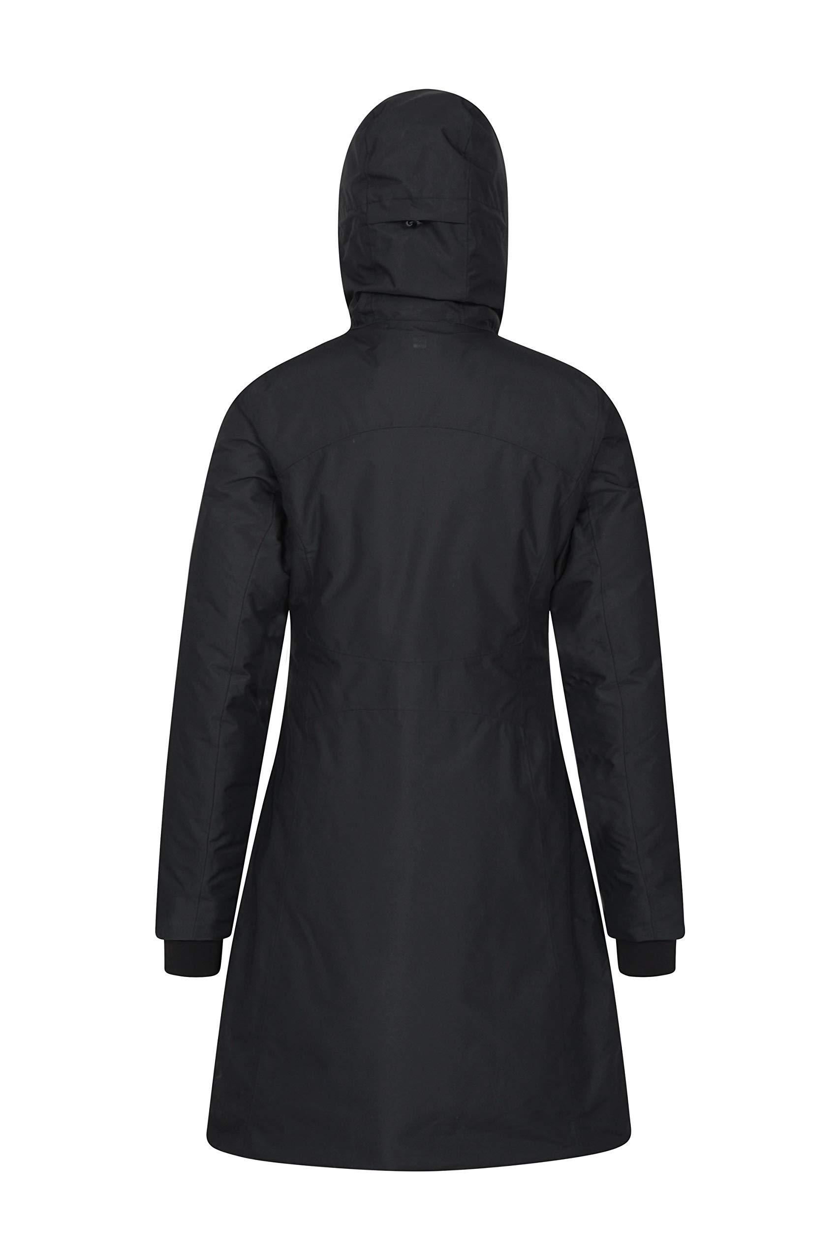 Mountain Warehouse Polar Womens Hybrid Long Padded Jacket – Waterproof Ladies Winter Coat, Breathable, Taped Seams…