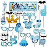 Lumaland Fotoparty Set Baby Boy lustige Foto Props und Requisiten Sets mit Fotoaccessoires für verschiedene Anlässe