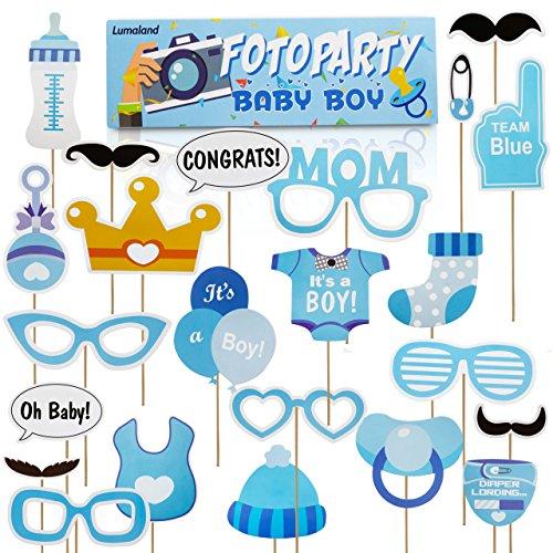 Lumaland Fotoparty Set Baby Boy lustige Foto Props und Requisiten Sets mit Fotoaccessoires für verschiedene Anlässe Baby-foto Requisiten