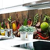 Küchenrückwand Spices on Wood Premium Hart-PVC 0,4 mm selbstklebend 280x60cm