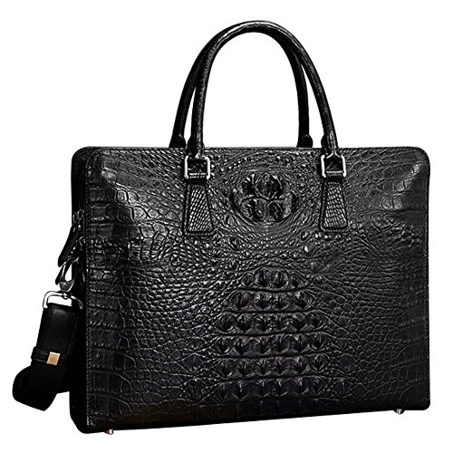 Classic-real-croc-leather-Briefcase-Laptop-Handbag-Messenger-Business-Bags-for-Men