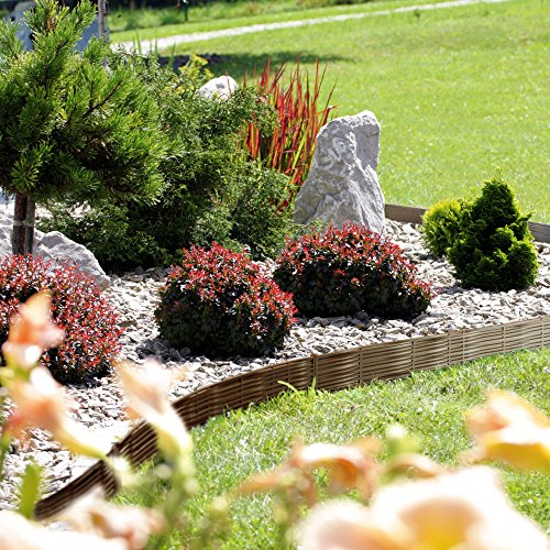 Deuba - Bordure de Jardin 7,8 m • Couleur Marron - délimitation Jardin aménagement du Jardin