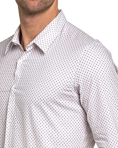BLZ jeans - Chemise homme blanche à motif Blanc