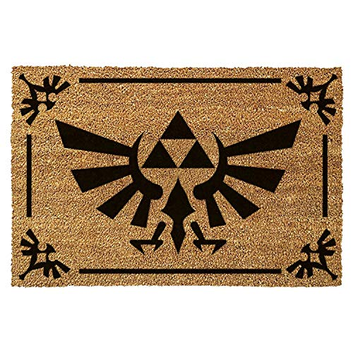 The Legend of Zelda Triforce Logo Brown