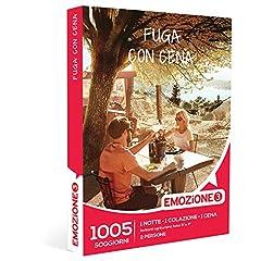 Idea Regalo - EMOZIONE3 - Cofanetto Regalo - FUGA CON CENA - 1005 gustosi soggiorni in agriturismi selezionati e hotel 3 e 4 stelle