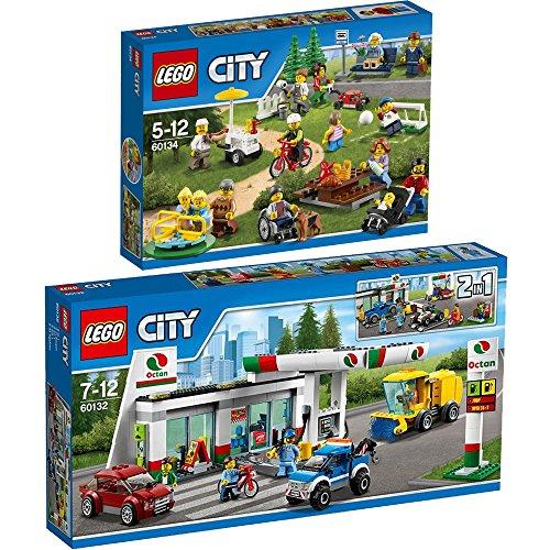 Preisvergleich Produktbild Lego City 2er Set 60132 60134 Tankstelle + Stadtbewohner