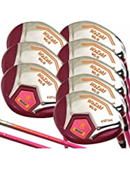 Japón Wazaki wl-iis 4-SW acero Mx Lady híbrida hierros Golf Club Set + Funda (Pack de 16)