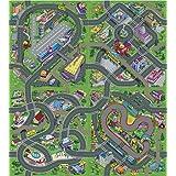 Alfombra infantil 140 x 160 cm diseño de ciudad tráfico