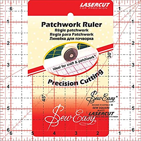 Tacony Corporation Plastic SewEasy Square Quilt Ruler-6.5-inch x