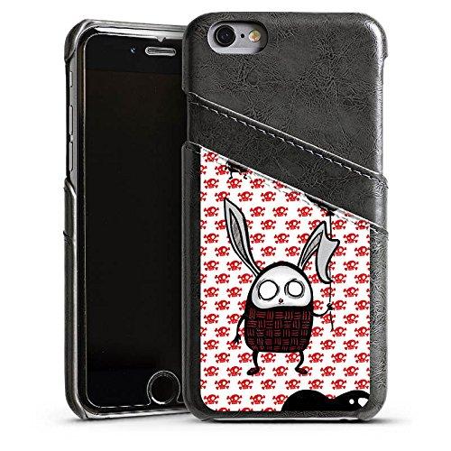 Apple iPhone 4 Housse Étui Silicone Coque Protection Lapin C½ur Lapin Étui en cuir gris