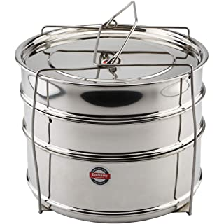 Embassy SS Cooker Separator H6.5 Suitable for 5.5 litres Prestige Deluxe Alpha Stainless Steel Outer Lid Pressure Cookers  3