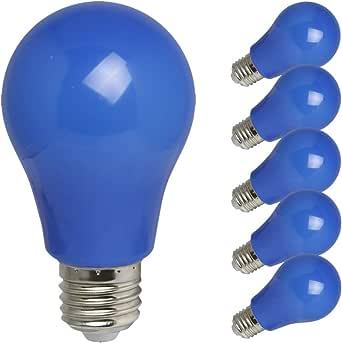 5 X Led Leuchtmittel Birnenform A60 3w E27 Ip54 Kunststoff Für Innen Außenbereich Robust Haltbar Illu Ketten Party Dekoration Blau 5 Stück Beleuchtung