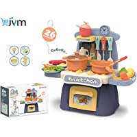 JVM Little Chef Kids Kitchen Play Set with Light & Sound Cooking Kitchen Set Play Toy