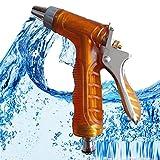 AMYMGLL Autowaschpistole Hochdruck Autowaschpistole Spritzpistole Haushaltsautowaschpistole Wasserpistole Garten Wasserpistole Super Impact Force Autowasch-Werkzeug gelb und blau , red