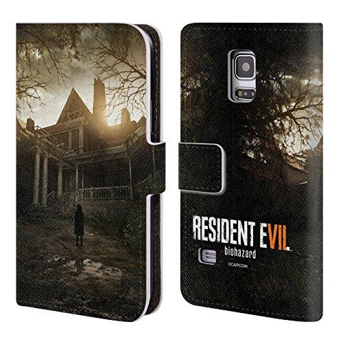 Head Case Designs Offizielle Resident Evil Bürgerhaus Spiel 7 Schlüssel Kunst Brieftasche Handyhülle aus Leder für Samsung Galaxy S5 Mini