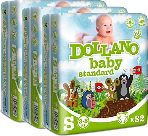 dollano-baby-nappies-standard-panales-para-bebes-estandar-sin-latex-sin-cloro-tamano-s-3-8kg-paquete