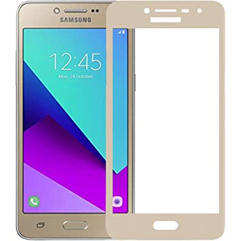 Roxel Premium Crystal Clear HD Coloured Tempered Glass For Samsung Galaxy J2 Ace Gold
