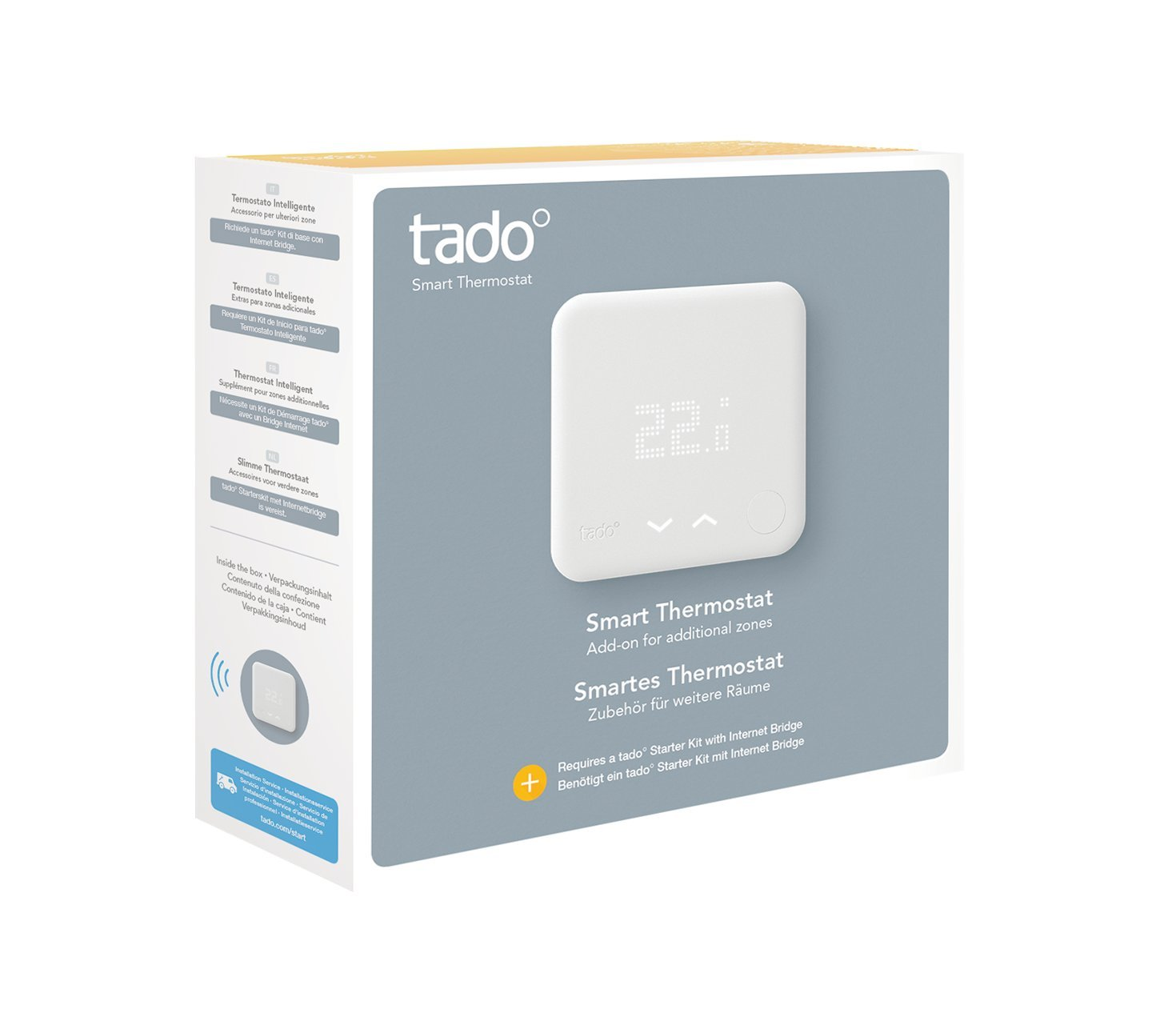 Tado Thermostat Intelligent de radiateur, Blanc, SK-ST01EK01IB01-TC-DE-03