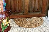 ID Mate 4575_ L Media Luna Alfombra Felpudo Fibra Coco/Acero galvanizado Beige 75x 45x 2,5cm