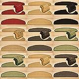 Kettelservice-Metzker® Stufenmatten Sisal New Halbrund in versch. Farben und Set Varianten Creme 14 Stück
