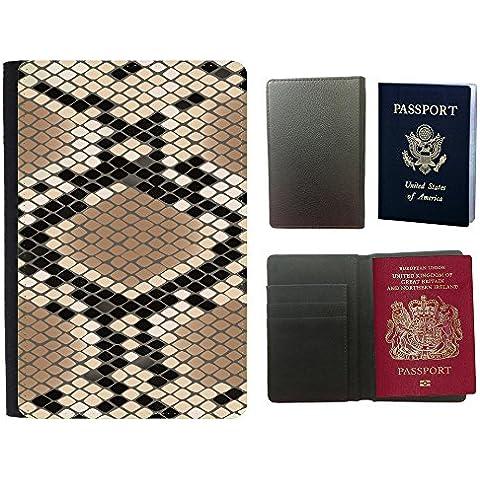 PU Funda para pasaporte // V00002744 pelle modello del serpente Losanga // Universal passport leather cover