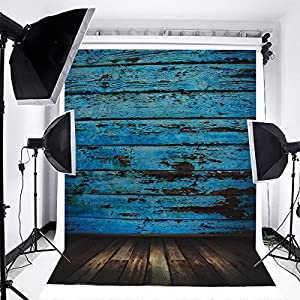 sesiones fotográficas familiares: MOHOO Vintage Fondo de Madera Azul Fondo de la Fotografía Fondo del Bebé Photopr...