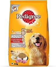 Pedigree Adult Dry Dog Food - Chicken, Egg & Rice, 10 Kg Pack