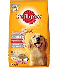 Pedigree Adult Dog Food (High Protein Variant) – Chicken, Egg & Rice, 10 Kg Pack
