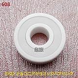 608 (ID 8 mm OD 22 mm W 7mm) Full Keramik Zirkonia-Oxid versiegelt Bearing zro2 PTFE Cage Abbott