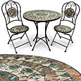 Best MEUBLES MEUBLES ORIENTAL ORIENTAL Tables - Deuba Salon de Jardin mosaique Malaga Ensemble Table Review