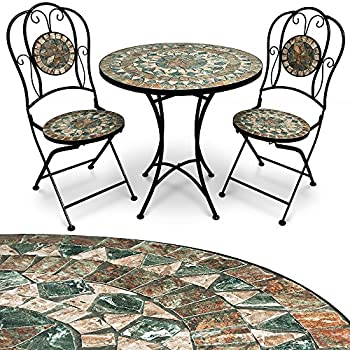 Malaga chaises et Jardin Design Salon de Deuba Table Ensemble Oriental mosaique vNm80wn