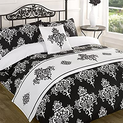 Kate Black Quilt Bed in a Bag set - Single Double King Size Super King Size - inexpensive UK light store.