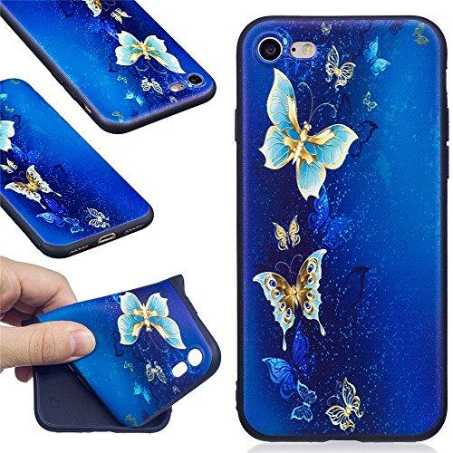 Ooboom® iPhone 5SE Coque TPU Silicone Mat Caoutchouc Gel Housse Étui Cover Case Pare-chocs Souple Ultra Mince pour iPhone 5SE - Panda Papillon Or