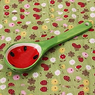 Aliciashouse Schöne Frucht Wassermelone Löffel japanischen Stil kreative Keramik Geschirr Eis Löffel - Wassermelone
