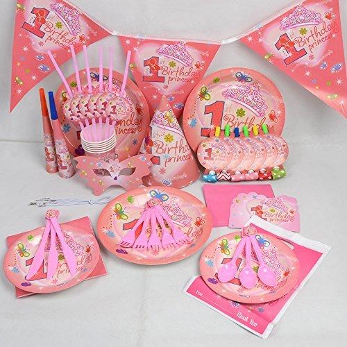 My Little Princess-compleanno festa di nozze decorazione tavola Cartoon, 16Pezzi Kit Da Trimming Shop (Rosa)