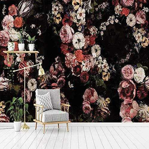 Wallpaper Benutzerdefinierte 3D Foto Tapete Vintage Handgemalte Rose Blume Wohnzimmer Sofa Schlafzimmer Tv Hintergrund Dekor Wandmalerei Tapete-200 * 140cm
