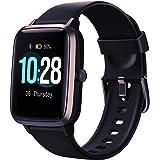 Smartklocka, fitness tracker smart armband helpekskärm smartklocka IP68 vattentät fitnessklocka med pulsmätare musikkontrollf