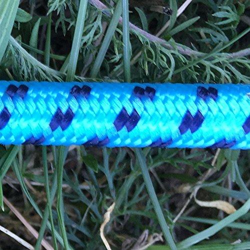 netproshop Kinder Reitgerte mit Gummigriff in Form eines Pferdekopfs, Farbe:Blau