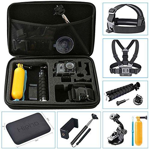 Hieha 10 in 1 GoPro Accessories Kit Action Camera Mount Go Pro HERO 5  Session Carry Case 4 3 2 1 SJCAM SJ4000 SJ5000 Xiaomi YI Vivitar Apeman A80