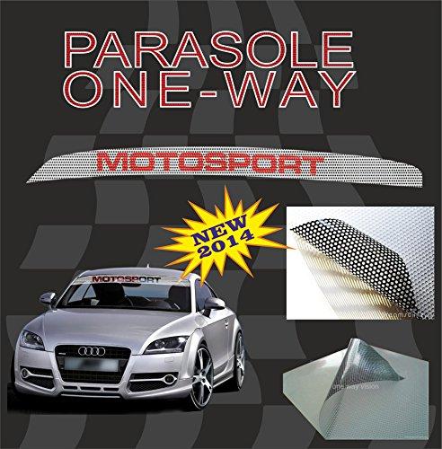 Quattroerre 2471Bandeau Pare-soleil pour Pare-brise effet Filtravedo One way-motorsport