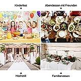 Tischdeckenrolle, 1.2 × 25M, Weiß, Einweg Vlies Stoffähnlich Tischdecke Rolle, Meterware Tischtuchrolle, Geeignet Für Geburtstag, Party, Deko - 6