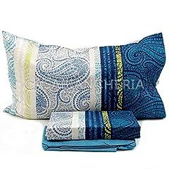 Idea Regalo - Completo lenzuola Matrimoniale Sultana - Bassetti - Blu - Cod. 85745