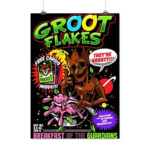 Groot Kostüm Weiblich (Groot Flakes Comic Müsli Held Mattes/Glänzende Plakat A3 (42cm x 30cm) |)