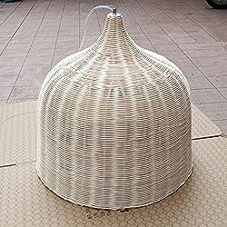 Lámpara Tradicional de Bambú Natural y Rattan E27 110V 220V , diametro 45cm