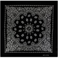Alex Flittner Designs Bandana with exclusive Paisley pattern in black (male) (Clothing)