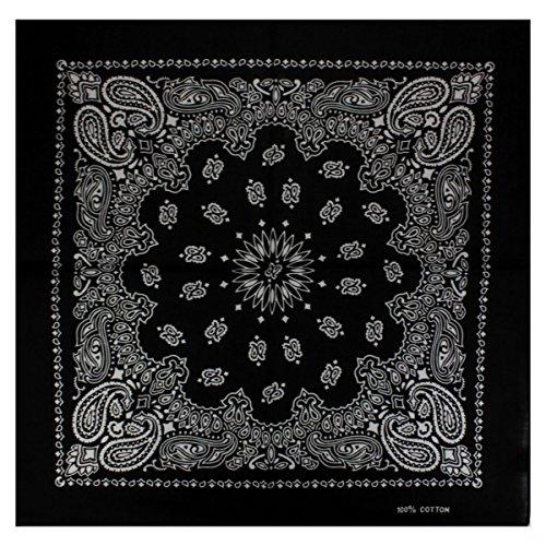 Bandana mit exclusivem Paisley Muster in schwarz (Bandana)